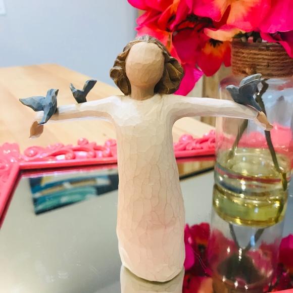 "🆕DEMDACO Willow Tree ""Happiness"" Figurine-EC"